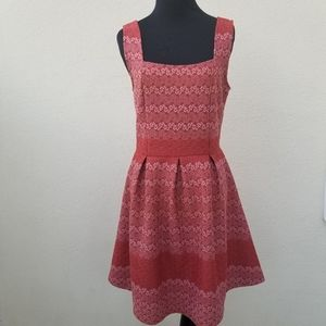 Francesca STEVIE Zig Zag Fit and Flare Dress